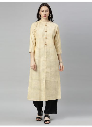 "Neeru'S Yellow Colour Cotton Fabric Tunic ""48"""