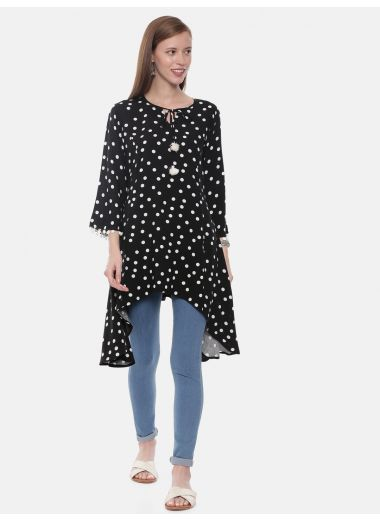 Neeru'S Black Color, Rayon Fabric Tunic
