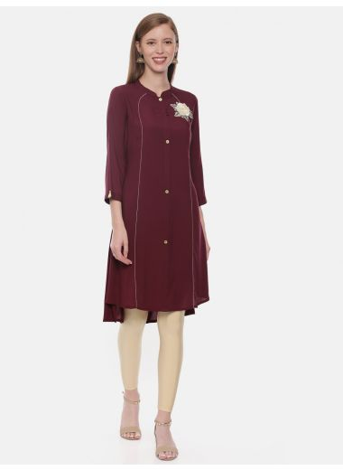 Neeru'S Maroon Color, Rayon Fabric Tunic